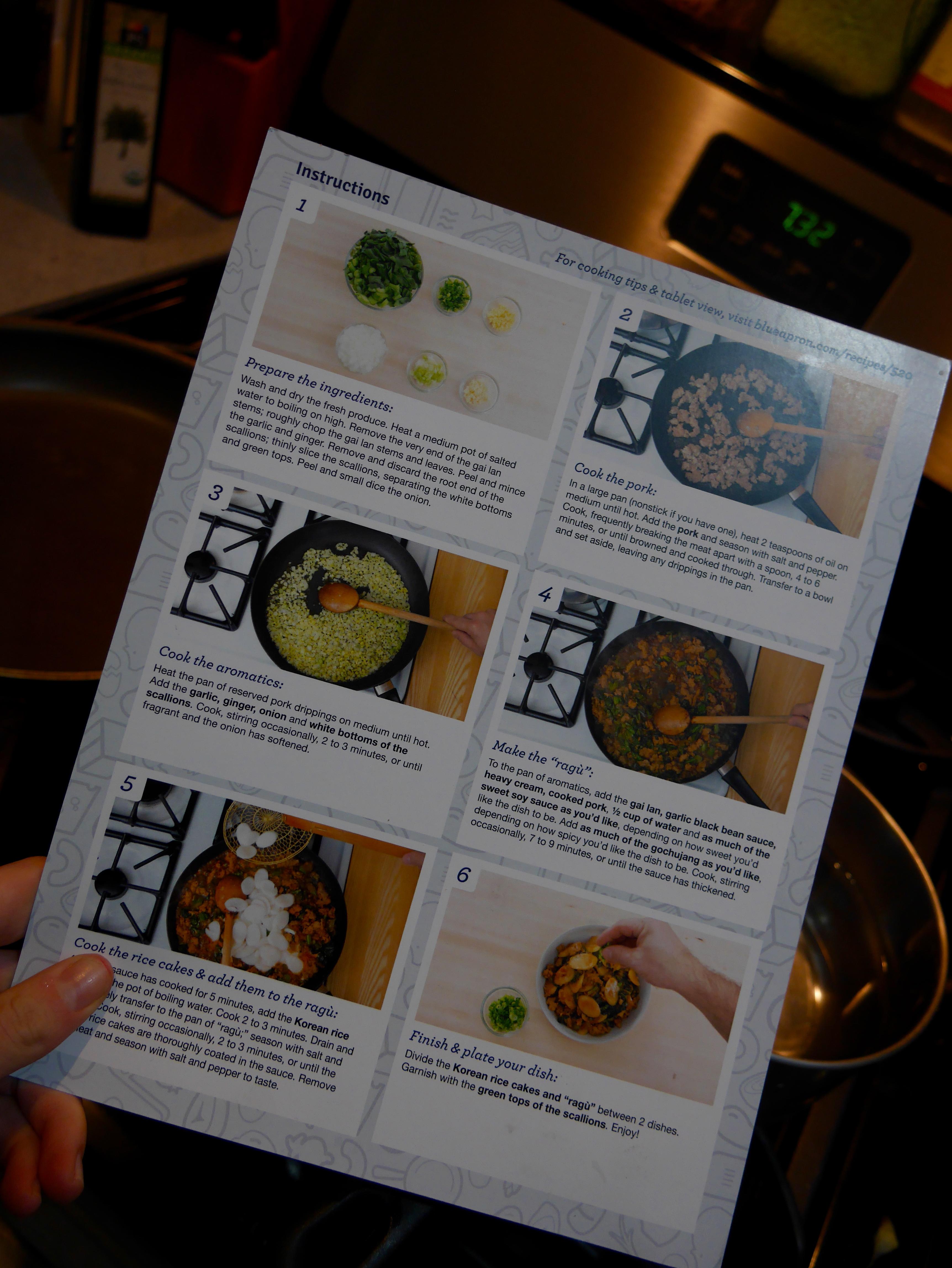 Blue apron korean rice cakes - Instructions Blue Apron