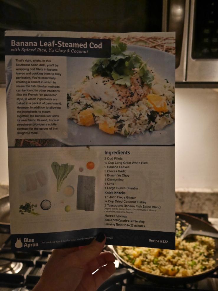 Banana Leaf Steamed Cod Ingredients - Blue Apron60347