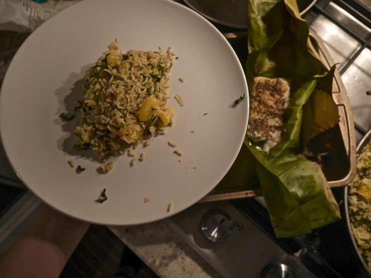 Banana Leaf Steamed Cod - Blue Apron
