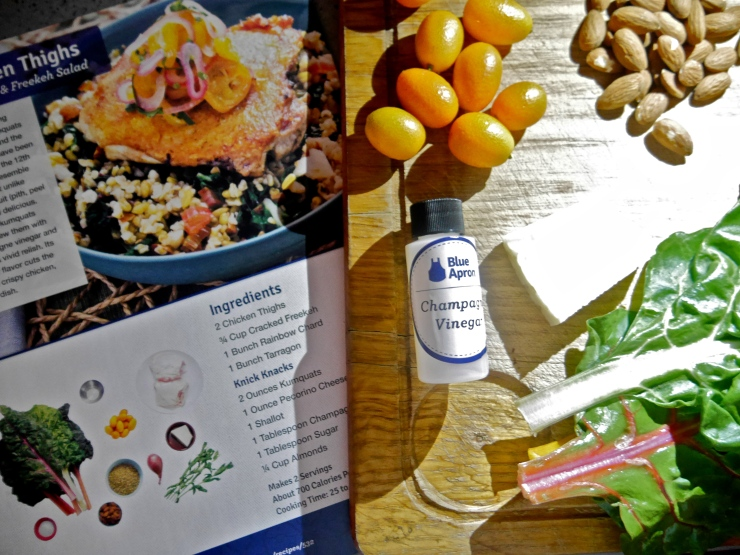 Chicken Thigs and Freekeh Salad - Blue Apron